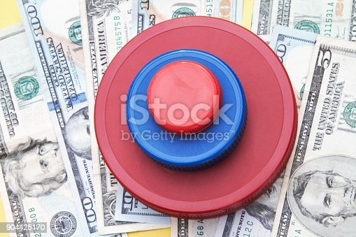 Investing concept: large cap, mid cap small cap investments. Various sized and colored caps representing Etf's, mutual funds or corporate investments. Mergers and acquisitions.