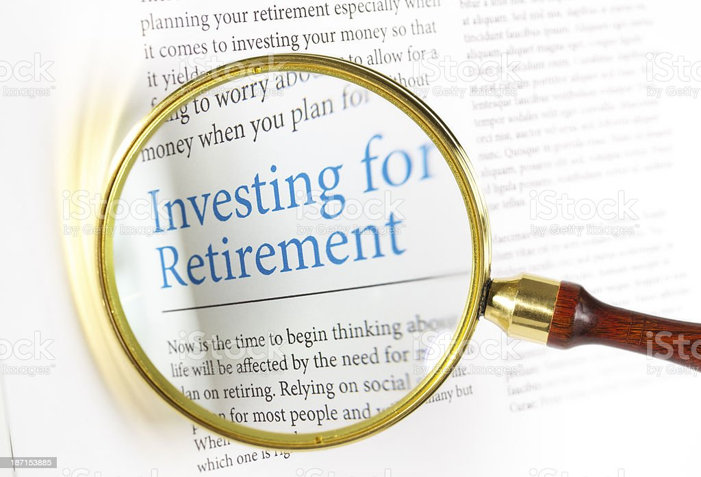 Investing for Retirement royalty-free stock photo