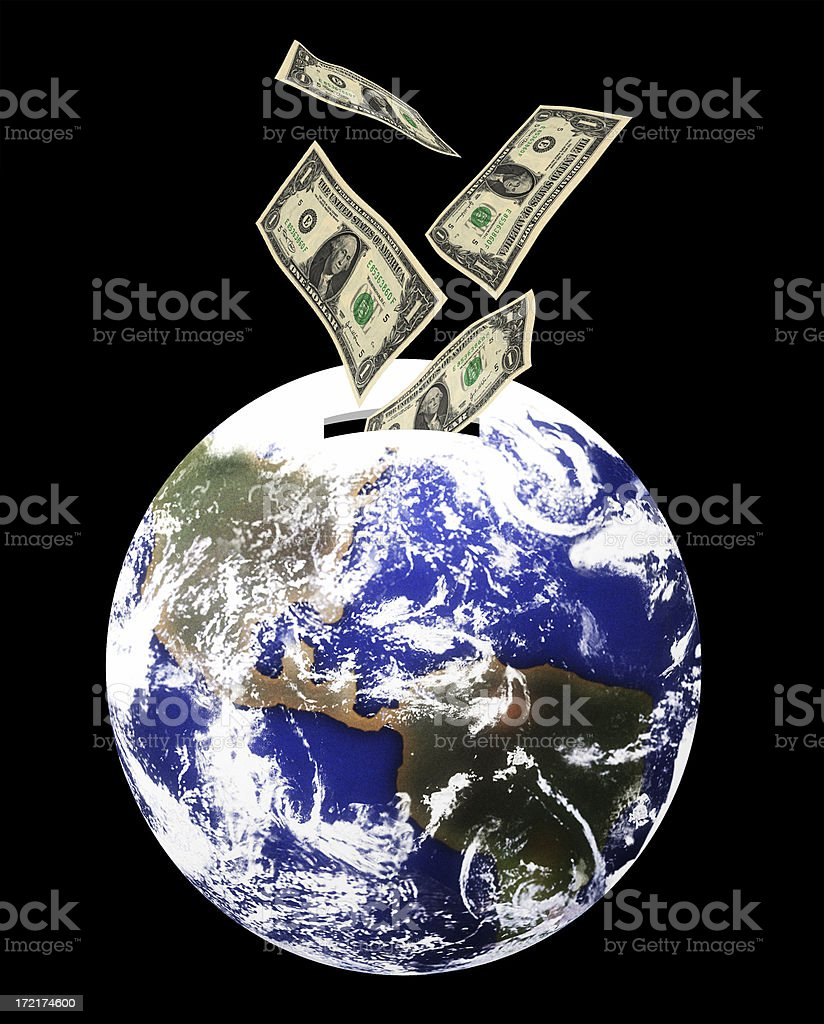 Investing in the World royalty-free stock photo