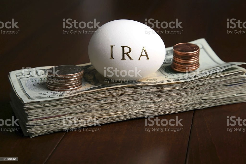 investing money in a IRA royalty-free stock photo