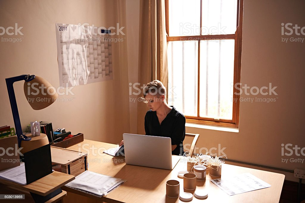 Investing time and hard work into my business stock photo