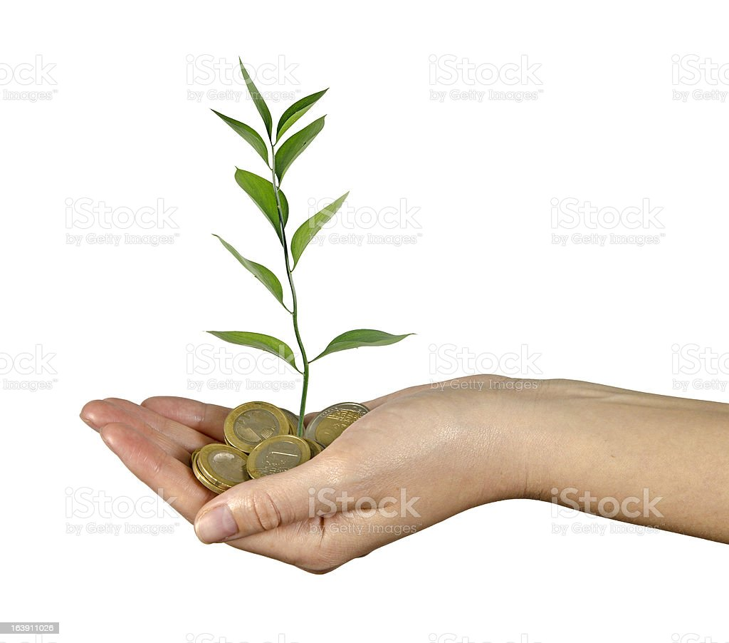 Investing to green business royalty-free stock photo