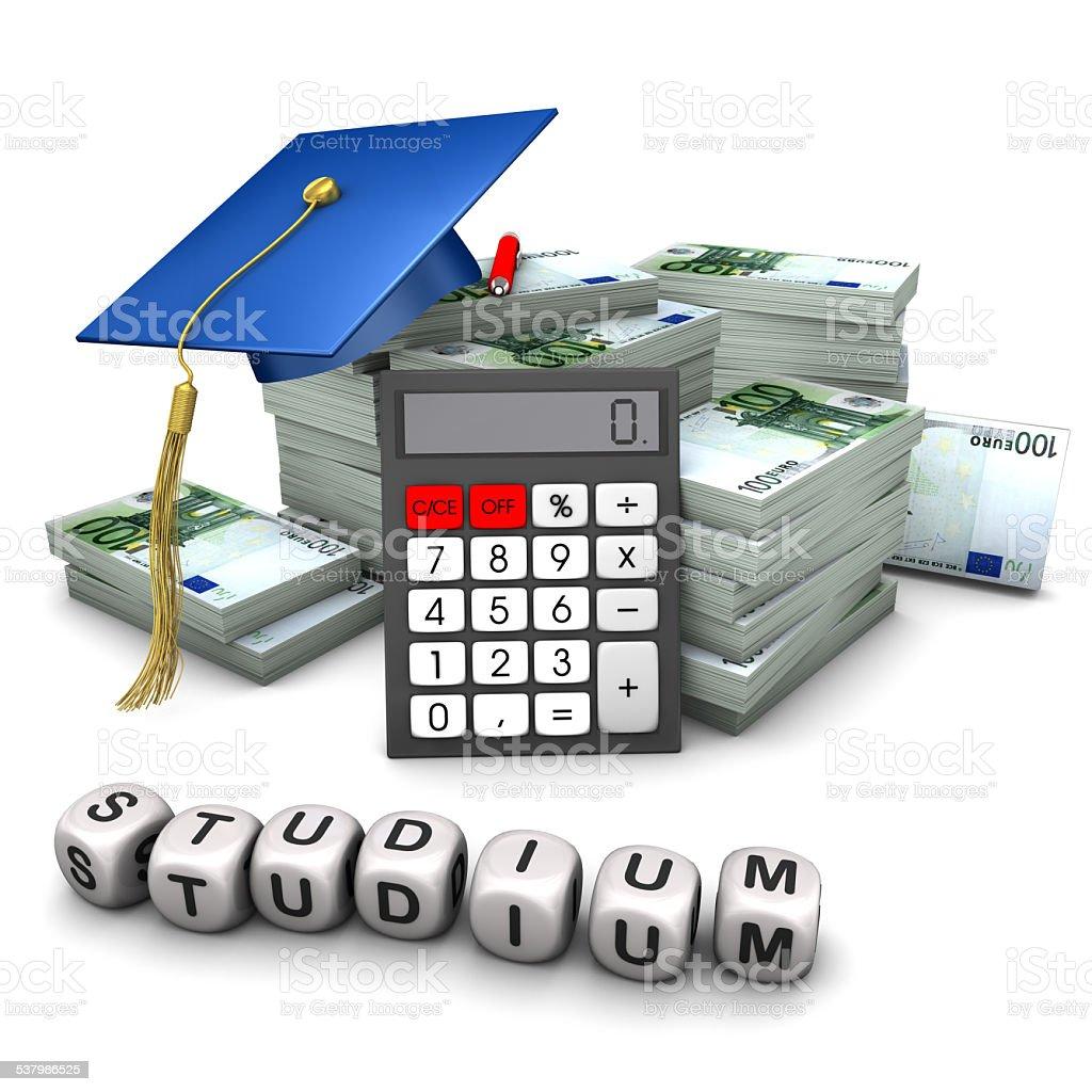 Investition Studium stock photo
