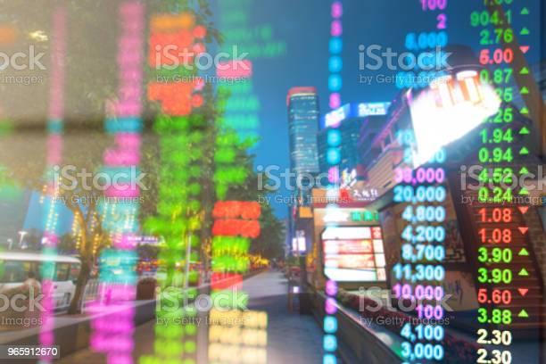 Investment And Financial Theme Guangzhou In China With City Lifestyle Background - Fotografias de stock e mais imagens de Ao Ar Livre