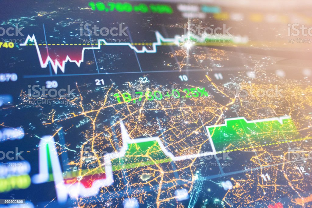 Investment and financial theme with panoramic view of Mumbai financial capital of India - Royalty-free Aerial View Stock Photo