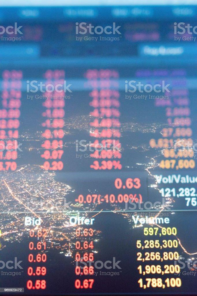 Investeringen en financiële thema met panoramisch uitzicht over de financiële hoofdstad Mumbai van India - Royalty-free Achtergrond - Thema Stockfoto