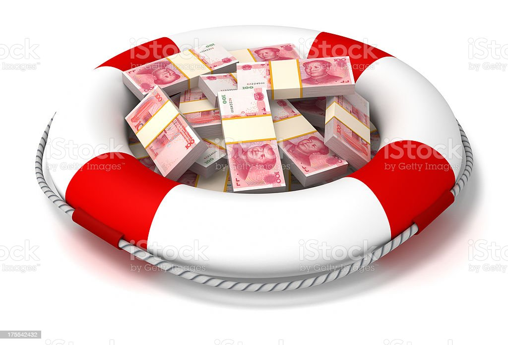 Investment and insurance in China. royalty-free stock photo
