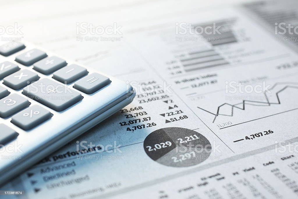 Investment Calculation royalty-free stock photo