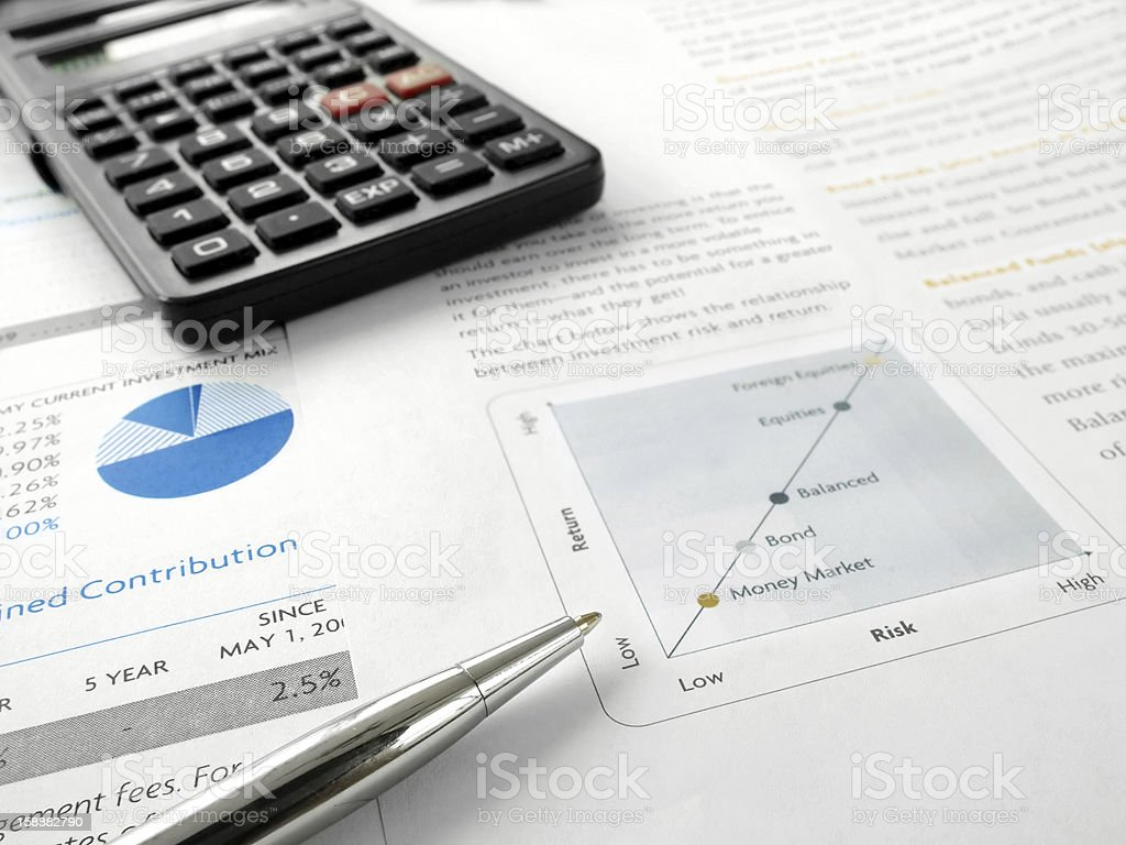 Investment Chart royalty-free stock photo