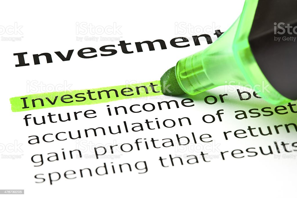 Investment Definition stock photo