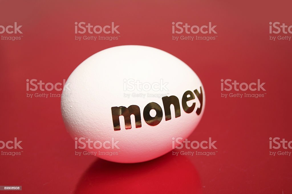 Investment egg royalty-free stock photo