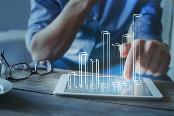 plan financiero de inversión con gráfico, crecimiento de capital - financial planning fotografías e imágenes de stock