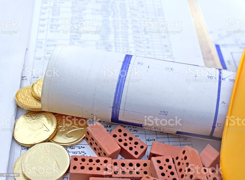 Investment for the project and future home royalty-free stock photo