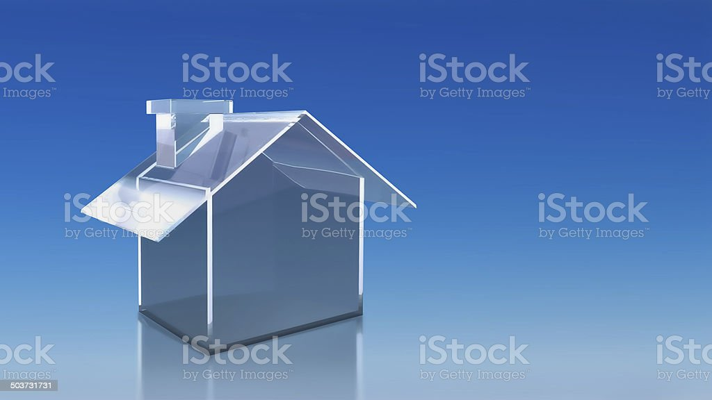 investment glass house sky royalty-free stock photo