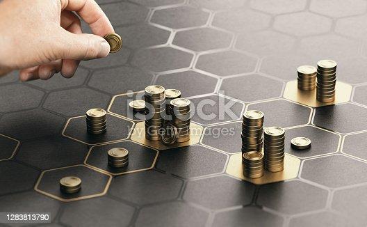 istock Investment management. Portfolio diversification. 1283813790
