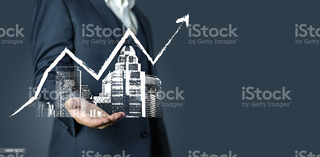 investment real estate business stock photo