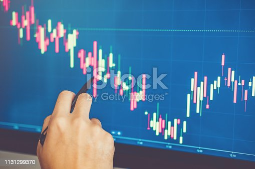 1131299321 istock photo Investment stock market  Entrepreneur Business Man discussing and analysis graph stock market trading,stock chart concept 1131299370