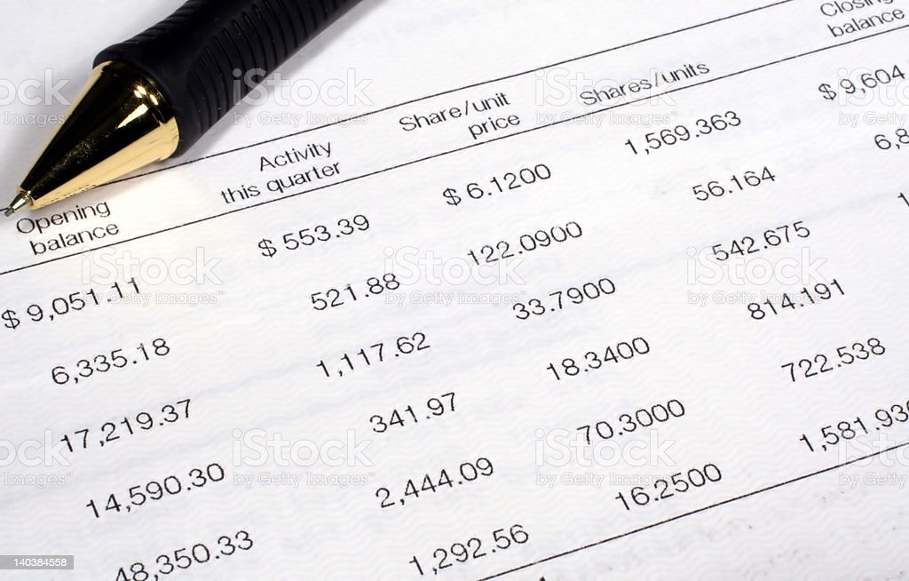 Investment Summary royalty-free stock photo