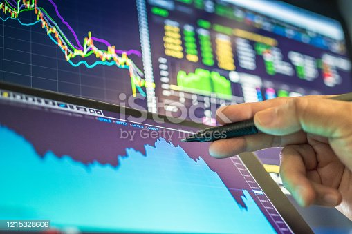 Investment theme background stockmarket and finance business analysis stockmarket Stockmarket crash and Financial crisis