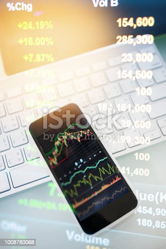 1061121998istockphoto Investment theme stockmarket and finance business analysis stockmarket with digital tablet 1008780068