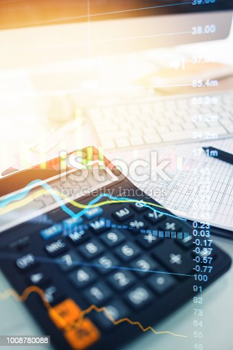 1061121998istockphoto Investment theme stockmarket and finance business analysis stockmarket with digital tablet 1008780088