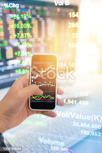 865596966istockphoto Investment theme stockmarket and finance business analysis stockmarket with digital tablet 1008780094