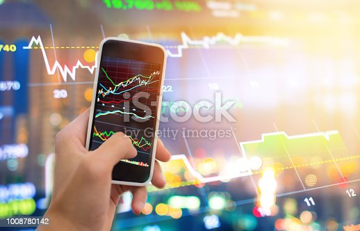 1061121998istockphoto Investment theme stockmarket and finance business analysis stockmarket with digital tablet 1008780142