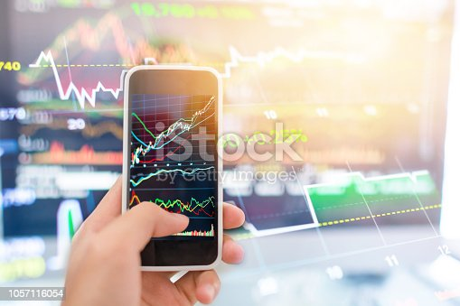 istock Investment theme stockmarket and finance business analysis stockmarket with digital tablet 1057116054