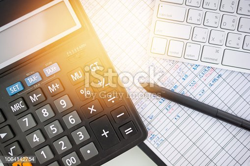1061121998istockphoto Investment theme stockmarket and finance business analysis stockmarket with digital tablet 1064142754