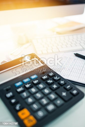 istock Investment theme stockmarket and finance business analysis stockmarket with digital tablet 1064142796