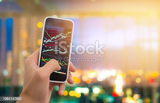 1061121998istockphoto Investment theme stockmarket and finance business analysis stockmarket with digital tablet 1064142832