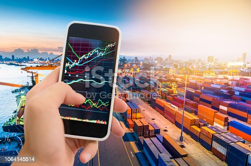 1061121998istockphoto Investment theme stockmarket and finance business analysis stockmarket with digital tablet 1064145514