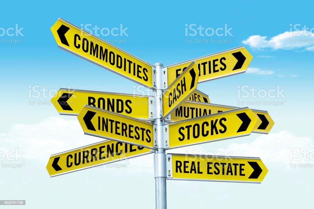 investment topics stock photo