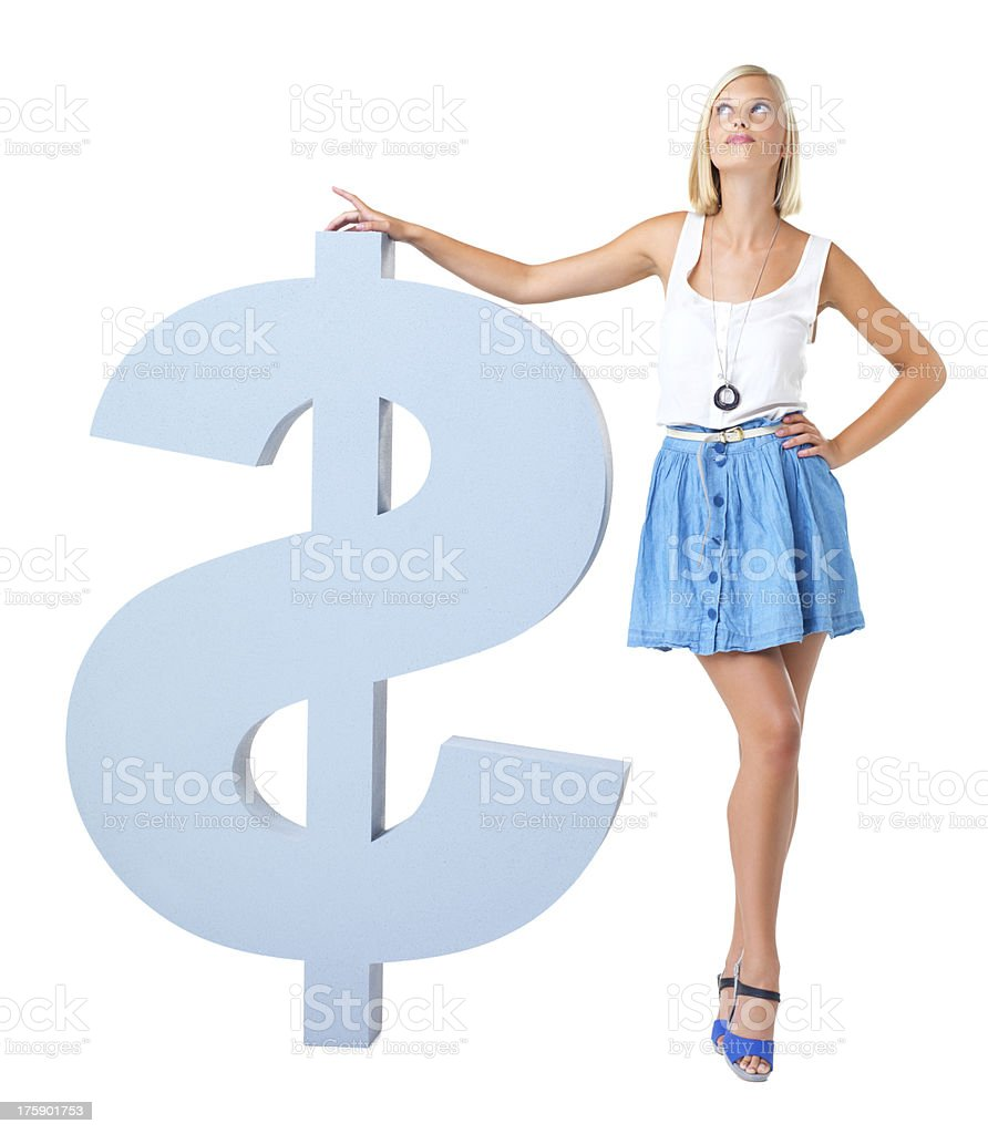 Investment - What shall I do with all this money? royalty-free stock photo