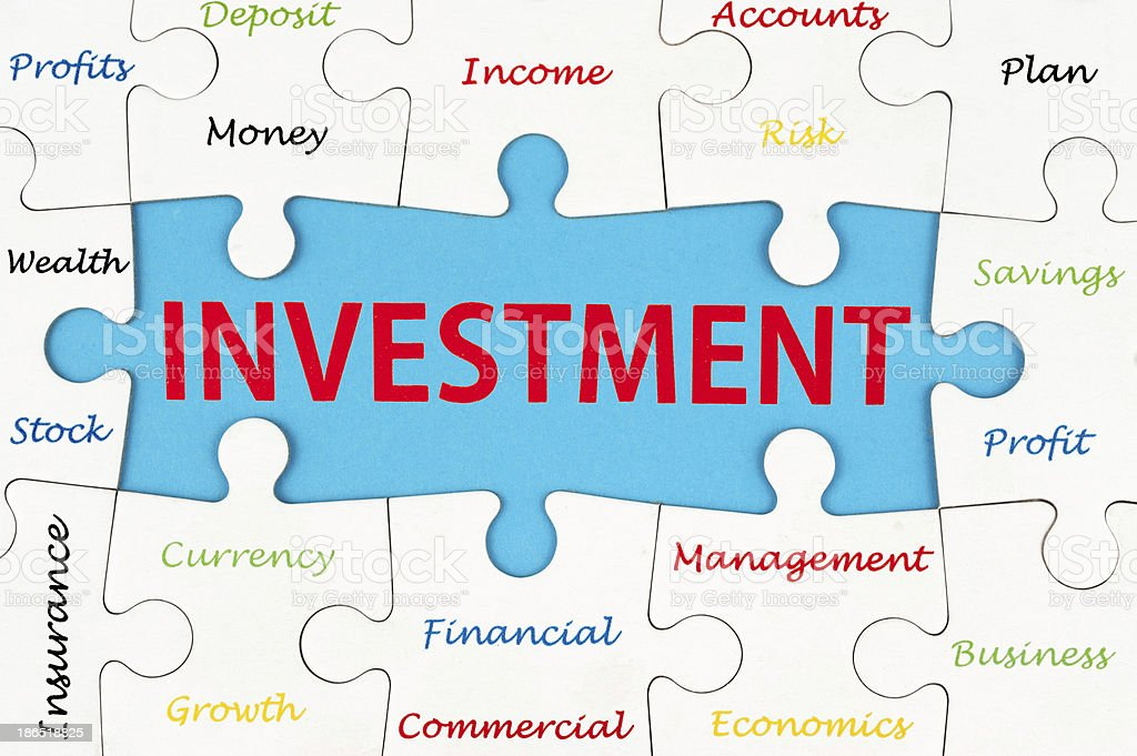 Investment words royalty-free stock photo