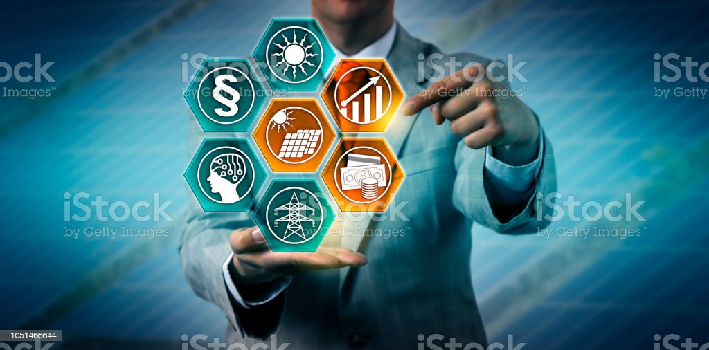 Investor Predicting Growth For Solar PV Industry stock photo