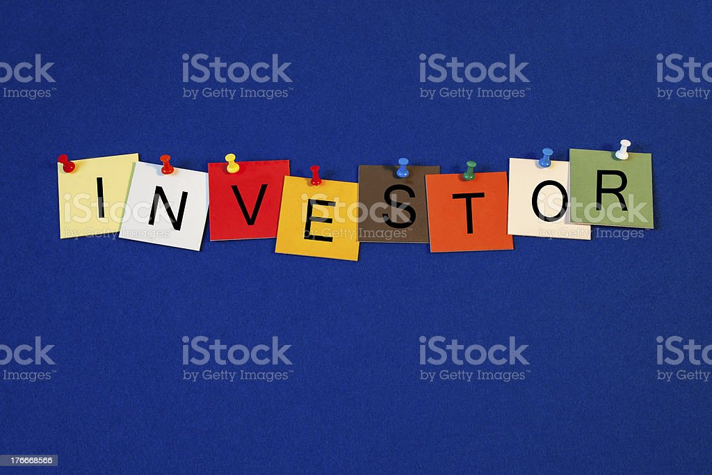 Investor - sign series for business / finance terms. royalty-free stock photo