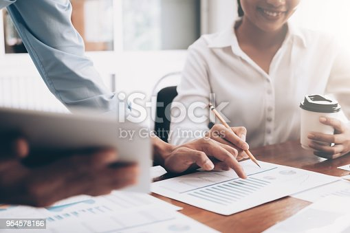 954578184 istock photo Investor working new startup project. 954578166