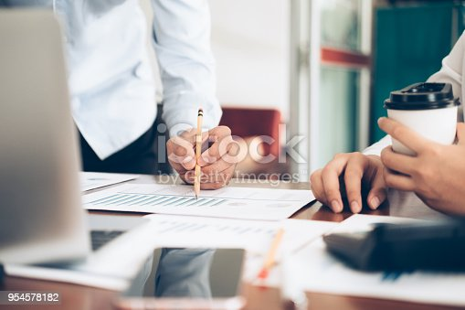 954578184 istock photo Investor working new startup project. 954578182