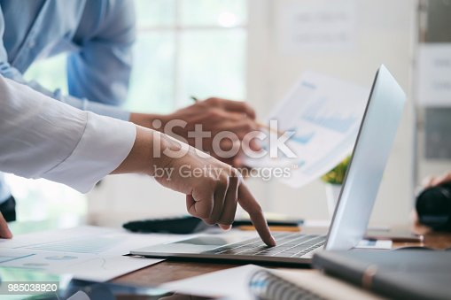 954578184 istock photo Investor working new startup project. 985038920