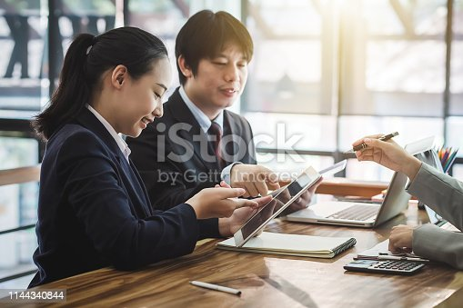 istock Investors Group. Business people working together in the meeting. Marketing and Investment Concept 1144340844