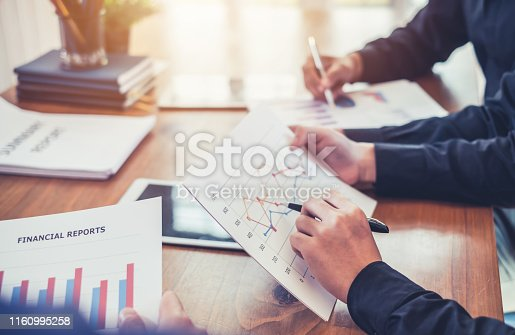 istock Investors Group. Business people working together in the meeting. 1160995258