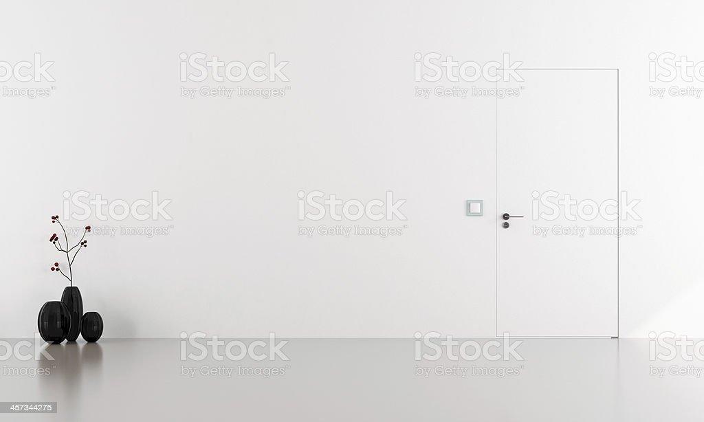 Invisible door stock photo