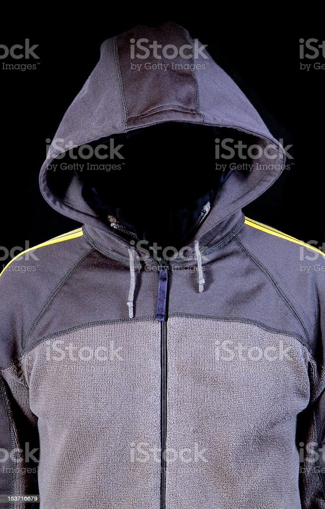 invisible face in a hood royalty-free stock photo