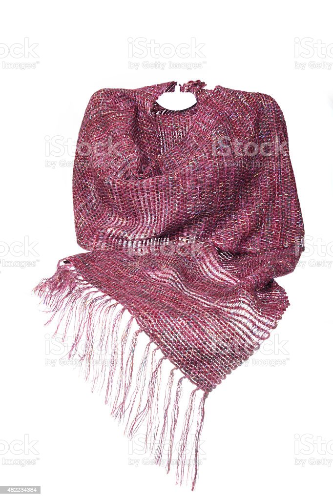 Invisible mannequin model wearing colourful neckwear or scarf stock photo