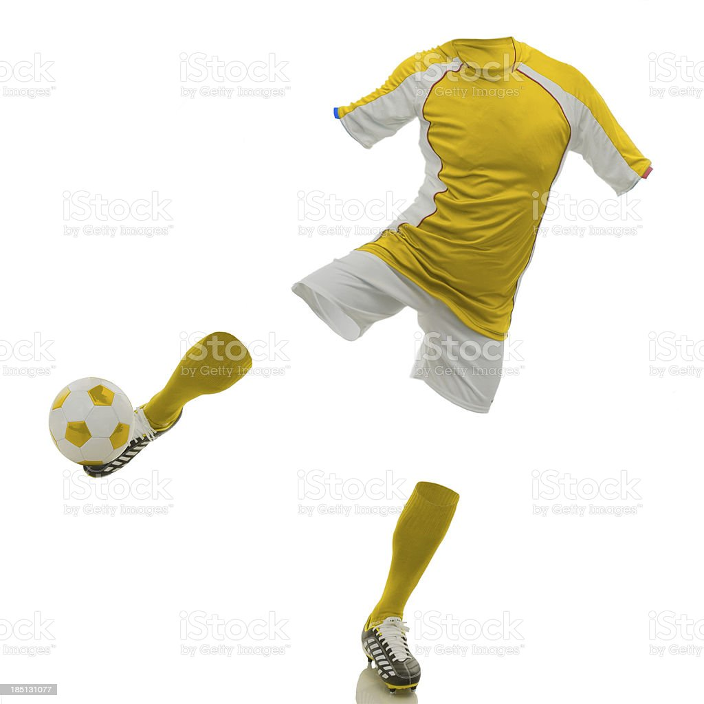 invisible soccer player royalty-free stock photo
