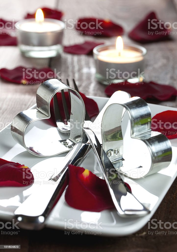 invitation for a dinner royalty-free stock photo