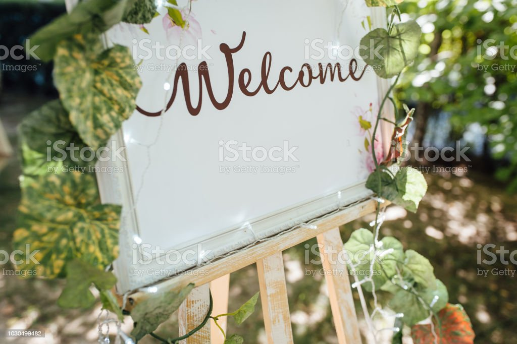 invitation for guests for a wedding ceremony stock photo