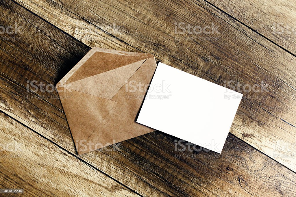 invitation in envelope stock photo