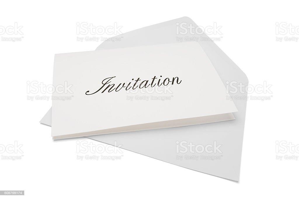 Invitation stock photo